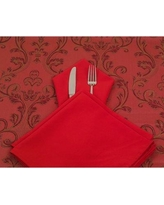 Yourtablecloth 100% Spun Polyester Cloth Dinner Napkin with Hemmed Edges SLDPL-NAP- Color: Red