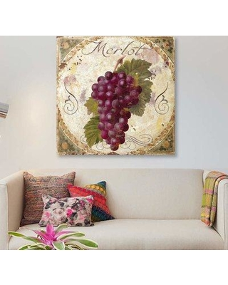"""East Urban Home 'Tuscany Table Merlot' Graphic Art Print on Canvas EBHS1830 Size: 26"""" H x 26"""" W x 1.5"""" D"""