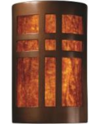 Justice Design Group Ambiance 9 Inch Wall Sconce - CER-7285-ANTC-MICA