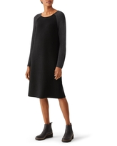 EILEEN FISHER Raglan Sweater Dress, Size X-Small in Black/Charcoal at Nordstrom Rack