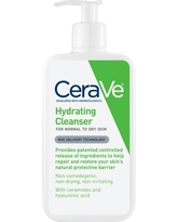 CeraVe Hydrating Facial Cleanser for Normal to Dry Skin, Fragrance Free - 12oz