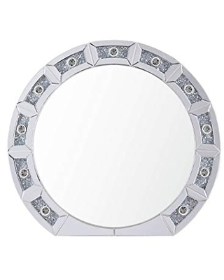 Acme Furniture Noralie Table Mirror, Mirrored & Faux Diamonds