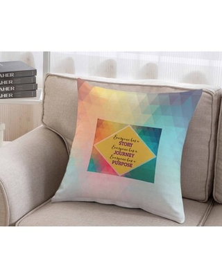 Inspirational Square Pillow Cover & Insert Trinx