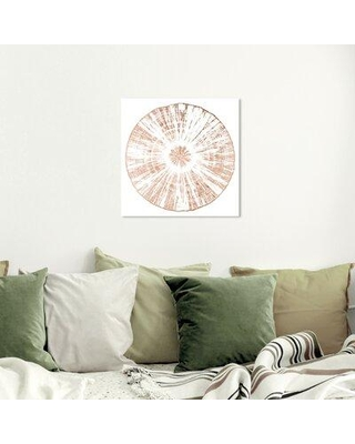 """House of Hampton® 'Cuore Legno Rose Gold' Graphic Art Print X113204186 Format: Wrapped Canvas Size: 20"""" H x 20"""" W x 2"""" D"""