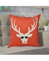 """The Holiday Aisle Leonis Holiday Print Throw Pillow THLA6874 Size: 26"""" H x 26"""" W, Color: Red"""