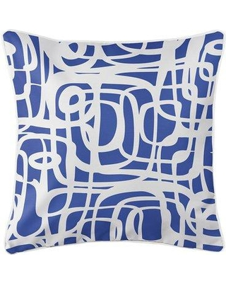 Ebern Designs Wabbaseka Throw Pillow W001062485 Color: Navy Blue