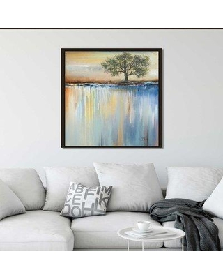 "Winston Porter 'Muted Paysage I' Framed Acrylic Painting Print On Canvas BI154412 Size: 21.5"" H x 21.5"" W x 2"" D"