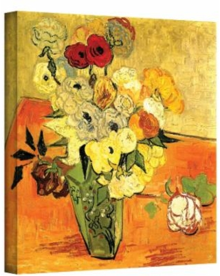 24'' x 18'' ''Japanese Vase with Roses and Anemones'' Canvas Wall Art by Vincent van Gogh, Medium