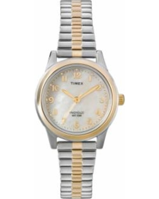 Timex Women's Two Tone Expansion Watch - T2M828, Size: Small, multicolor