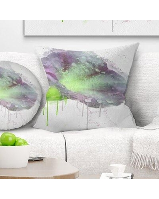 """East Urban Home Floral Violet Gentiana Alpina Watercolor Pillow FUSI5467 Size: 16"""" x 16"""" Product Type: Throw Pillow"""