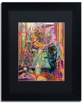 "Trademark Art '5 O'clock Somewhere' Framed Graphic Art Print ALI5639-B1 Matte Color: Black Size: 14"" H x 11"" W x 0.5"" D"