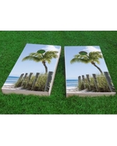 "Custom Cornhole Boards Path to the Seas Cornhole Game CCB142 Size: 48"" H x 24"" W, Bag Fill: All Weather Plastic Resin"
