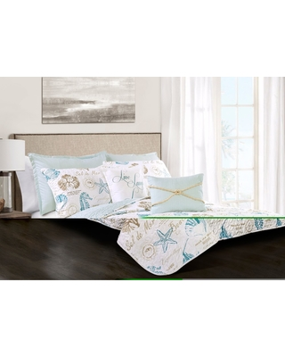 The Best Fall Sales: Blue & Taupe Harbor Life Quilt Set ...