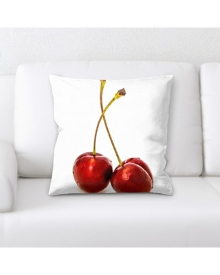 Deals For Betances Fruits Cherry On A White Background Throw Pillow East Urban Home