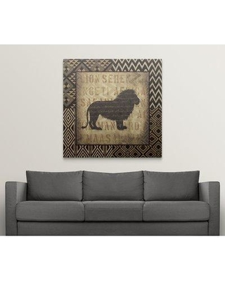 "Great Big Canvas 'African Wild Lion Border' Graphic Art Print 2276288_ Format: Canvas Size: 48"" H x 48"" W x 1.5"" D"