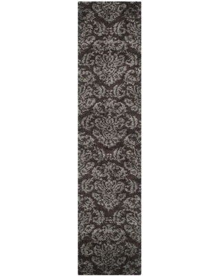 Safavieh Florida Shag Dark Brown/Smoke 2 ft. x 11 ft. Runner Rug
