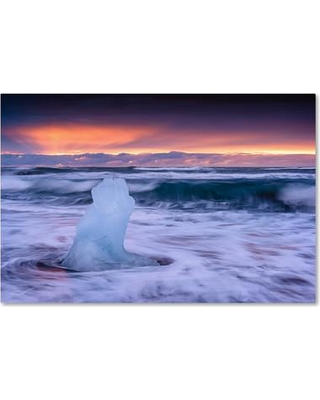 """Trademark Art Ice Sculpture' Photographic Print on Wrapped Canvas ALI3790-C Size: 22"""" H x 32"""" W x 2"""" D"""