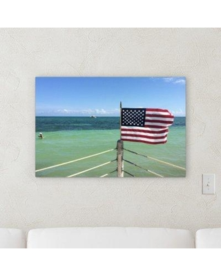 """East Urban Home 'Flags 3' Photographic Print on Wrapped Canvas BF059516 Size: 20"""" H x 30"""" W x 2"""" D"""