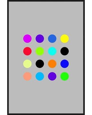 Wrought Studio 'Colorful Dots' Framed Graphic Art Print on Canvas BF009583