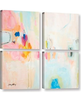 Shop For Latitude Run Rosa Abstract 4 Piece Painting Print On Wrapped Canvas Set Canvas Fabric In Brown Blue Pink Size 48 H X 48 W X 2 D Wayfair