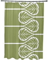 Bay Isle Home Sigsbee Fern 2 Floral Print Shower Curtain BAYI2133 Color: Green