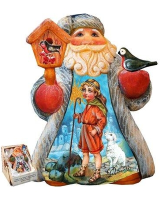 The Holiday Aisle Fifield Mini Tale Illustrated Santa with Snowmaiden Figurine THLY6433
