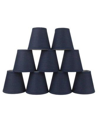 Shop Deals For Symple Stuff 5 H Cotton Empire Lamp Shade Clip On Cotton In Navy Blue Size 5 H X 6 W X 6 D Wayfair Sypl3105 40714866