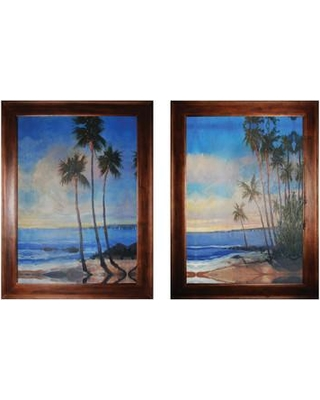 Rosecliff Heights 'Embellished Tropical Breeze' 2 Piece Framed Painting Print Set ROHE8836