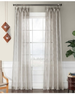 """Exclusive Fabrics & Furnishings Calais Tile Patterned Sheer 50"""" x 96"""" Curtain Panel"""