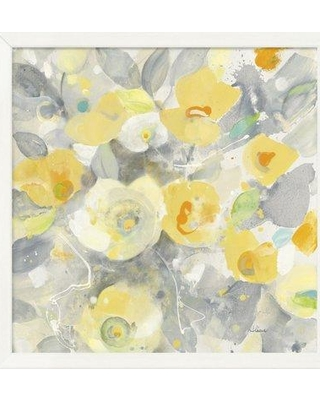 """East Urban Home 'Buttercups II' Print on Canvas EUHE1986 Size: 26.5"""" H x 26.5"""" W Matte Color: No Matte Format: White Cube Framed Canvas"""