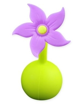 Haakaa® Silicone Breast Pump Flower Stopper in Purple
