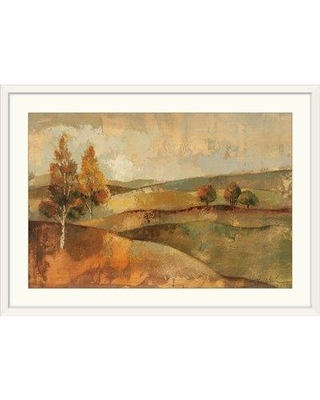 """Great Big Canvas 'Autumn Hills I' by Silvia Vassileva Painting Print 1051004 Format: White Framed Size: 20"""" H x 26"""" W x 1"""" D"""