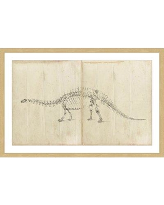 """Marmont Hill """"Dinosaur Study I"""" Framed Painting Print MH-WAG-12-NFP- Size: 20"""" H x 30"""" W x 1.5"""" D"""