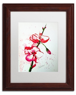 "Trademark Fine Art ""Spring Bloom Copy"" Canvas Art by Wendra, White Matte, Wood Frame"