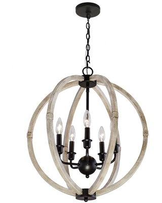 New Deals On Elle Decor 20 13 In 5 Light Faux Wood Chandelier With Metal Accents
