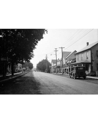"East Urban Home '1930s Jennerstown Pennsylvania Looking Down the Main Street of This Small Town' Photographic Print on Wrapped Canvas ERNI3878 Size: 26"" H x 40"" W x 0.75"" D"
