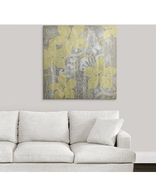 "Great Big Canvas 'Yellow and Gray I' Jennifer Goldberger Painting Print 2058529_1_ Size: 35"" H x 35"" W x 1.5"" D Format: Canvas"