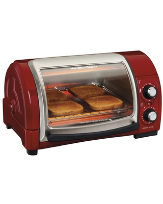 Hamilton Beach Easy Reach 4 Slice Toaster Oven - Candy Apple Red 31337
