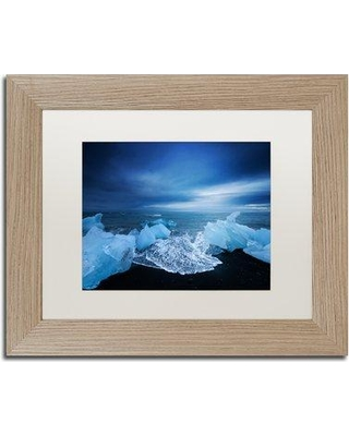 "Trademark Art 'Blue Day' Framed Photographic Print on Canvas PSL0625-B1114MF / PSL0625-B1620MF Size: 16"" H x 20"" W x 0.5"" D Frame Color: Birch"