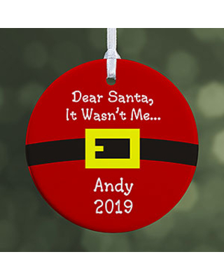 Personalized Christmas Ornaments - Santa's Belt - 1-Sided