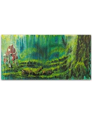 """Winston Porter 'Forest Mushrooms' Print on Wrapped Canvas WNPO5614 Size: 12"""" H x 24"""" W"""