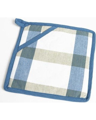 Flato Home Products Check Pot Holder 1400000047 Color: Blue/Green