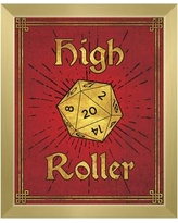 """Click Wall Art High Roller Framed Painting Print on Canvas in Ruby Gold GRM0000127FRM Size: 26.5"""" H x 22.5"""" W, Format: Gold Framed"""