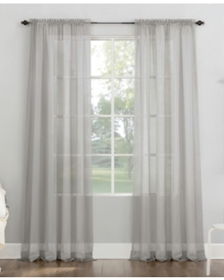 """No. 918 Sheer Voile Rod Pocket Curtain Panel, 108"""" L x 59"""" W"""