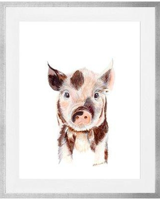 """Oopsy Daisy 'Piglet' by Brett Blumenthal Framed Painting Print CU128 Size: 15"""" H x 13"""" W x 0.5"""" D Frame Color: Silver"""