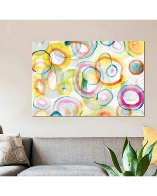 """East Urban Home 'Chasing Yellow' Painting Print on Canvas ESUR3910 Size: 12"""" H x 18"""" W x 0.75"""" D"""
