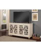 """Rosecliff Heights Mainor TV Stand for TVs up to 70"""", Wood/Distressed Finish in Antique White 