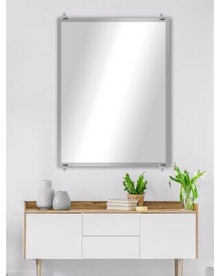 "Ebern Designs Arbonne Modern and Contemporary Beveled Frameless Accent Mirror X113312810 Size: 36"" H x 16"" W"