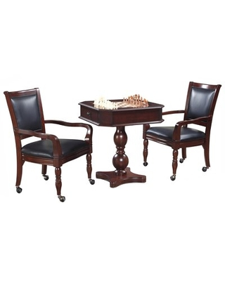 """28"""" Chess & Backgammon Table with Chairs Hathaway Games"""