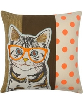 Madura Wise Cat Cotton Pillow Cover 13628